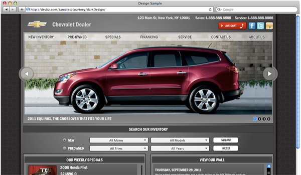 ChevyDealer Flash Website