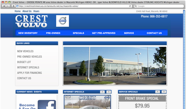 VolvoDealer Flash Website