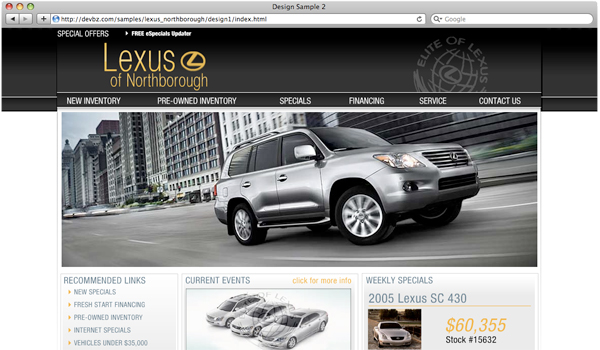 LexusDealer Flash Design